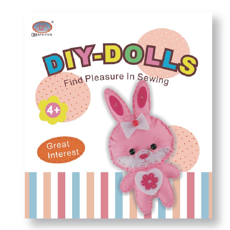 兒童益智玩具DIY縫制布娃娃玩偶&小兔款