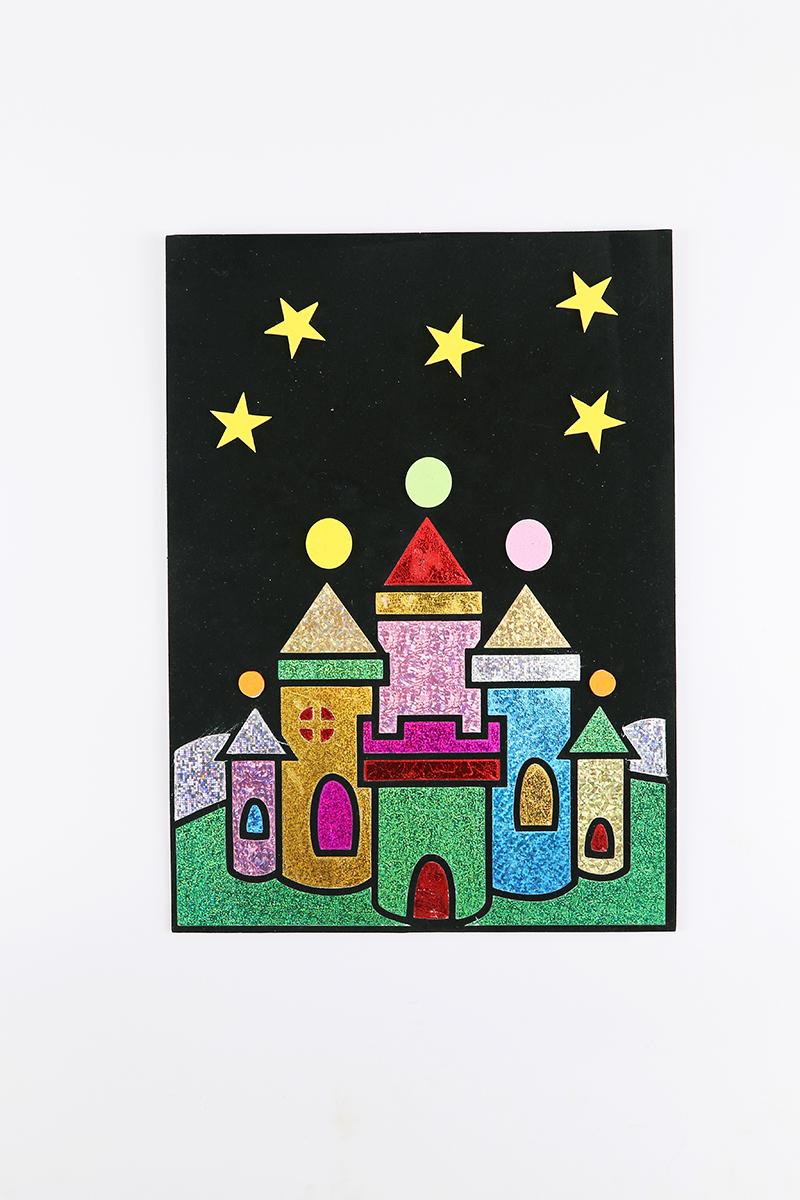 兒童益智玩具DIY貼畫&城堡款