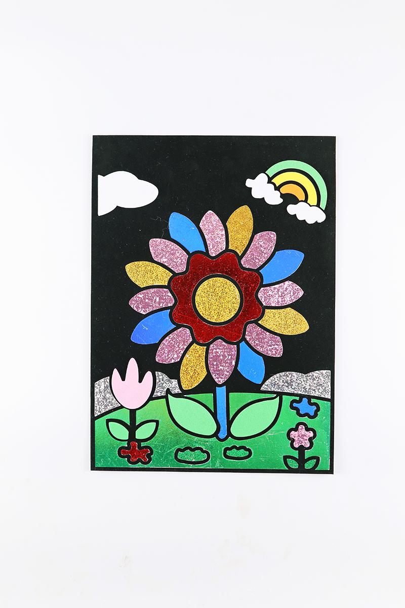 兒童益智玩具DIY貼畫&花朵款