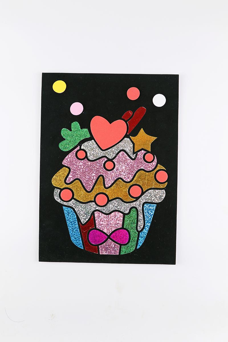 兒童益智玩具DIY貼畫&糖果小蛋糕款
