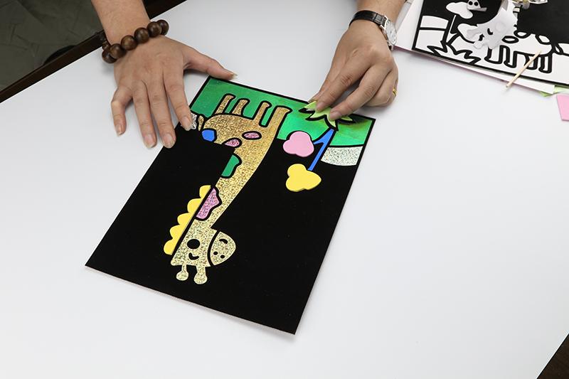 兒童益智玩具DIY貼畫&長頸鹿款