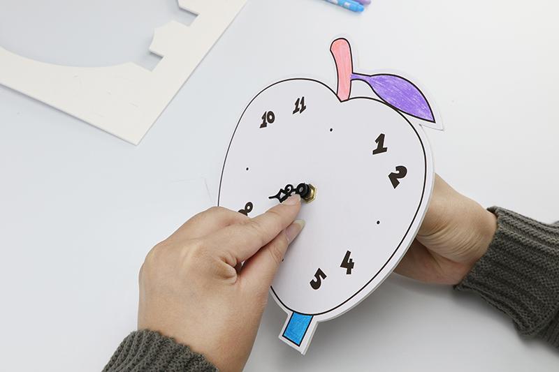 兒童益智玩具DIY鬧鐘制作創意畫&蘋果款