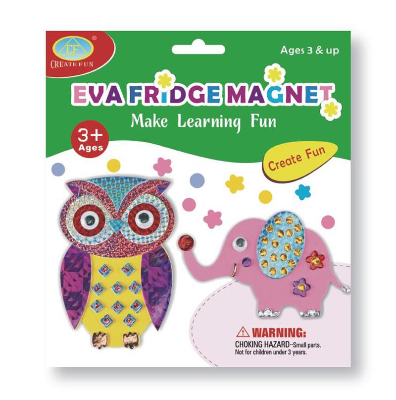 兒童益智玩具DIY磁性貼畫&貓頭鷹大象款
