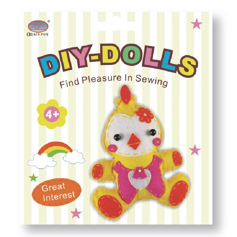 兒童益智玩具DIY縫制布娃娃玩偶&小雞款