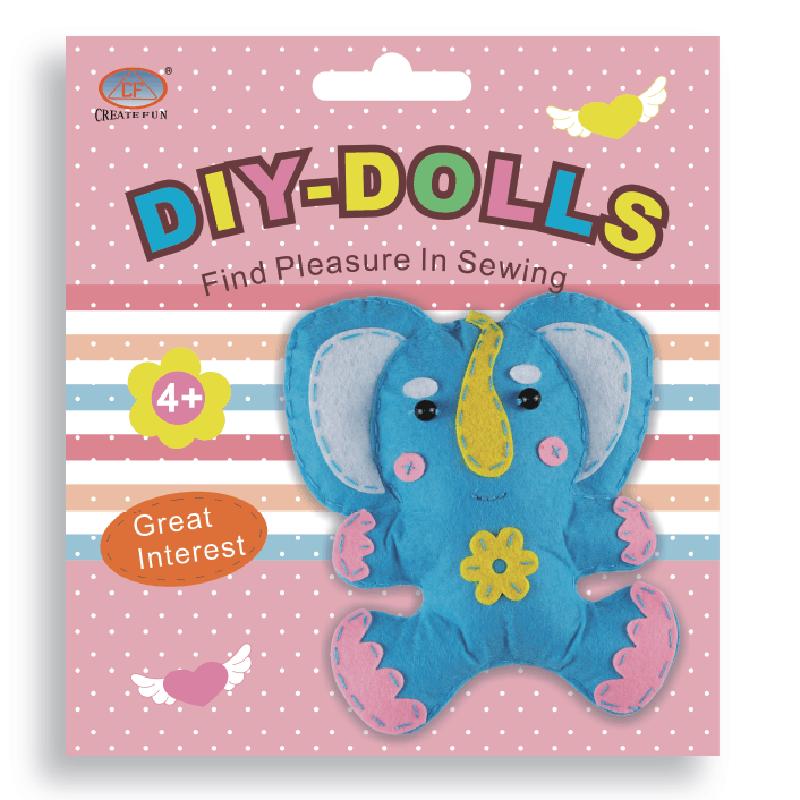 兒童益智玩具DIY縫制布娃娃玩偶&大象款