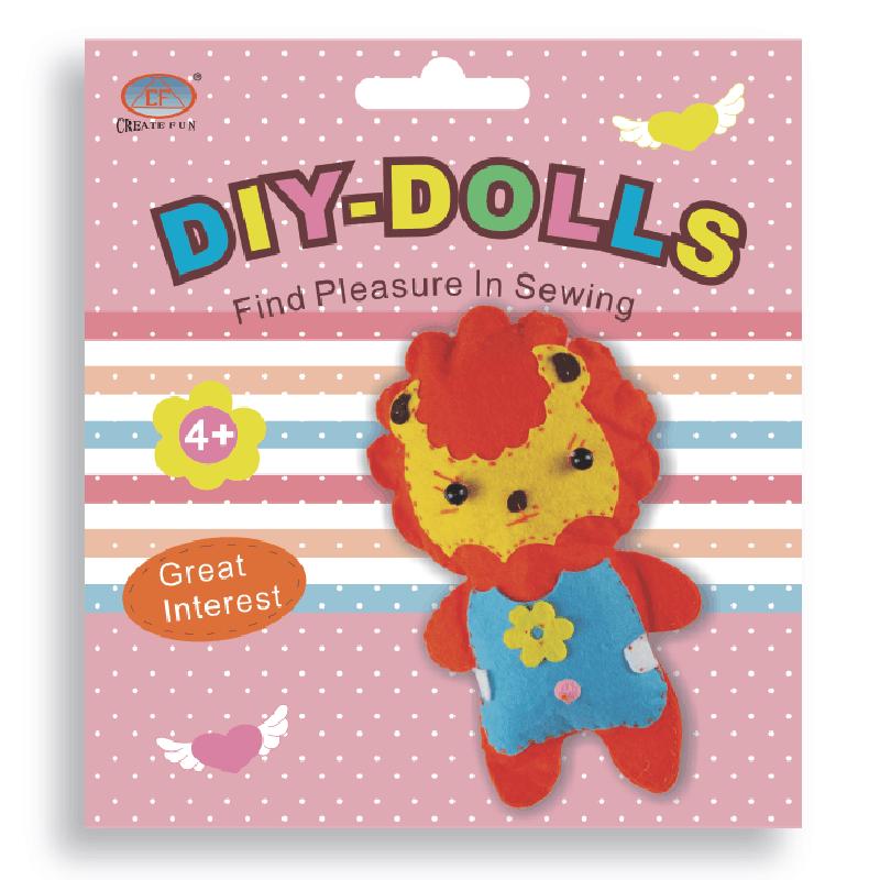 兒童益智玩具DIY縫制布娃娃玩偶&獅子款