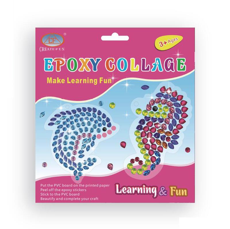 兒童益智玩具DIY滴塑貼畫&魚海馬款