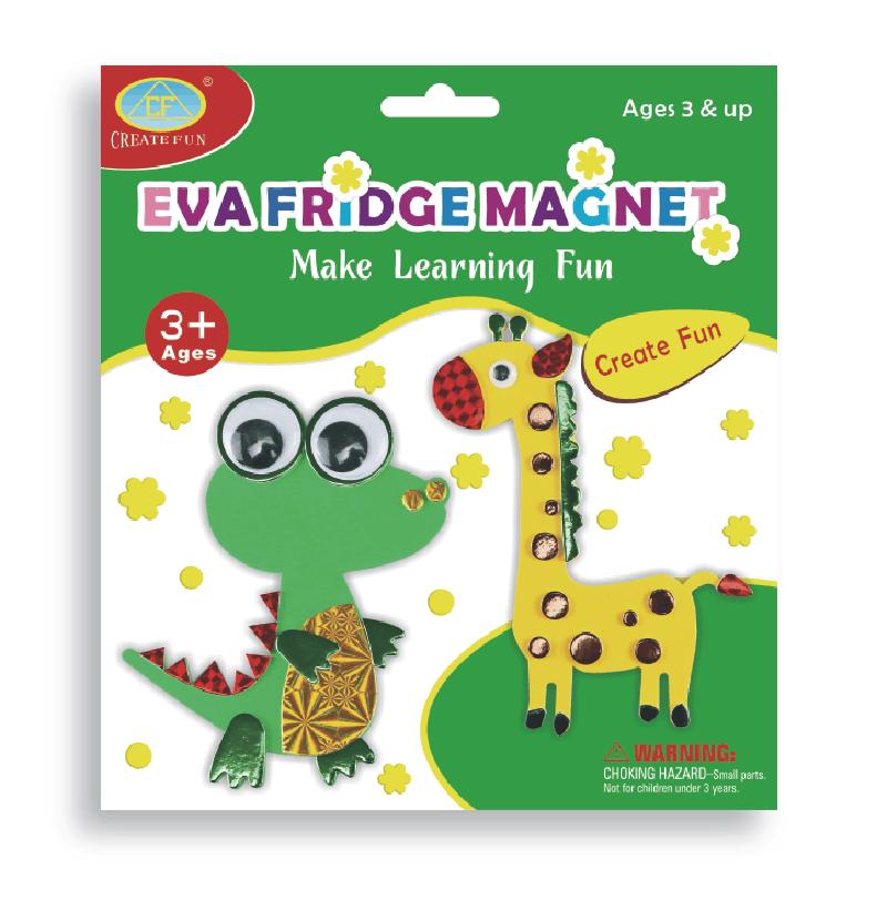兒童益智玩具DIY磁性貼畫&恐龍長頸鹿款