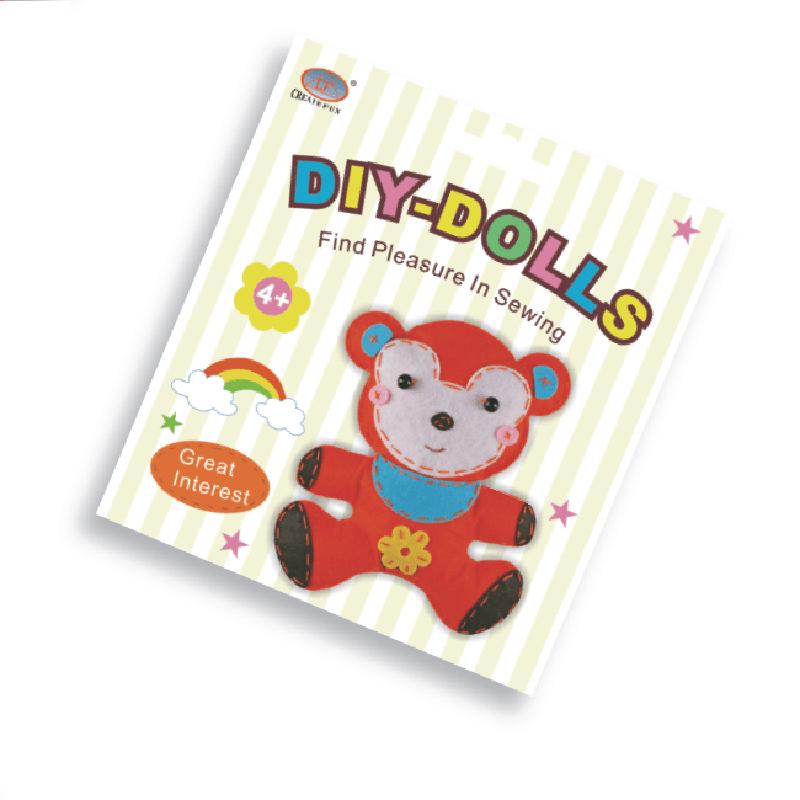 兒童益智玩具DIY縫制布娃娃玩偶&小猴款